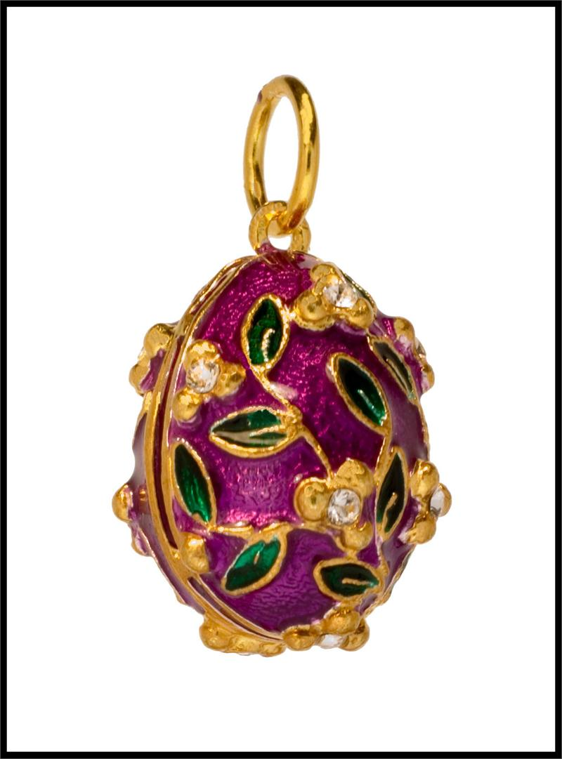 Russian faberg style egg pendant flower style aloadofball Images
