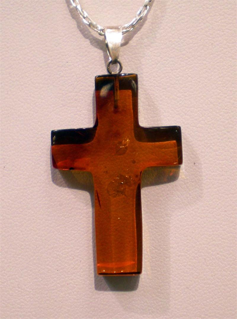 Baltic amber cross pendant in sterling silver from lithuania amber amber cross pendant 4 mozeypictures Gallery