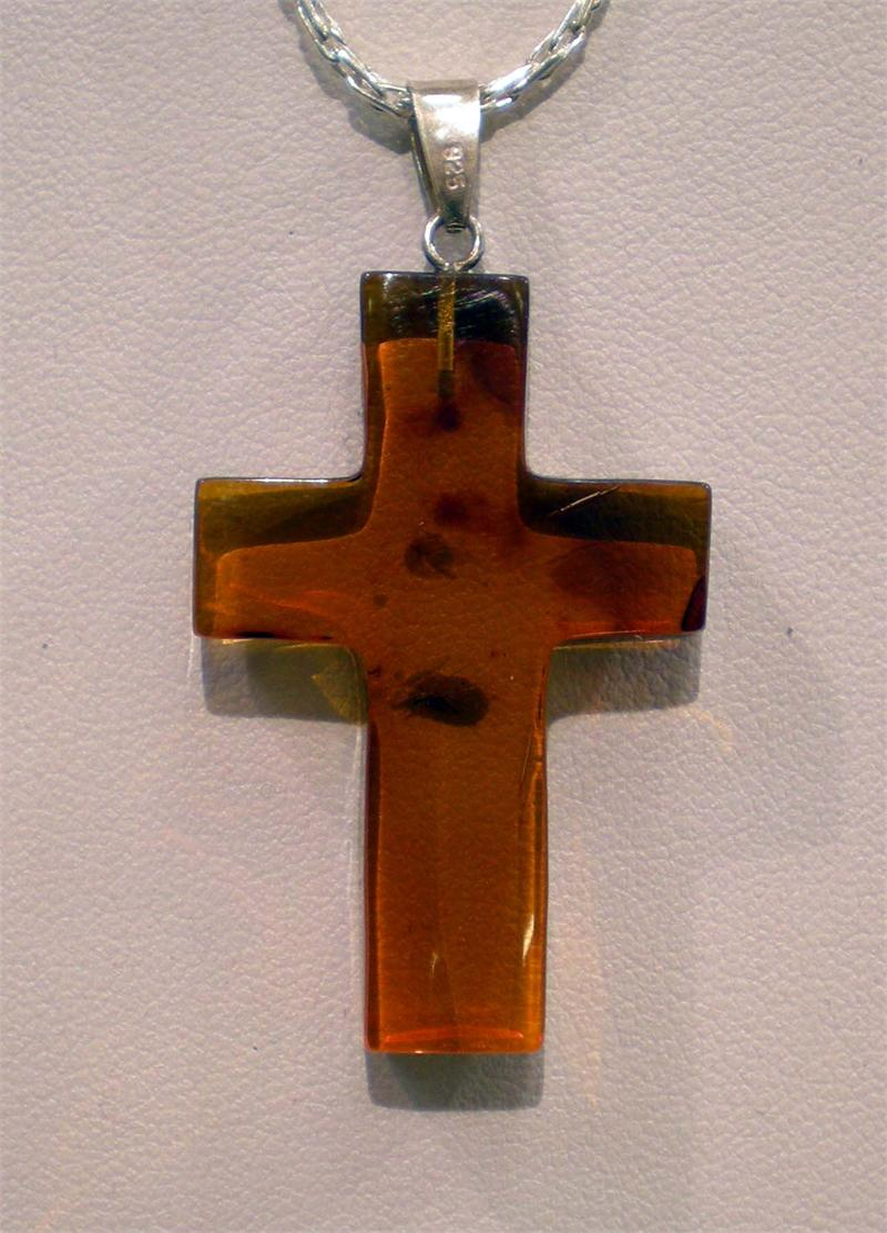 Baltic amber cross pendant in sterling silver from lithuania amber baltic amber cross pendant in sterling silver from lithuania view 2 mozeypictures Gallery