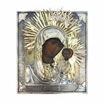 Antique Russian Icon Our Lady Of Kazan