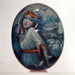Russian Lacquer Box The Swan Princess by Olisova from Fedoskino
