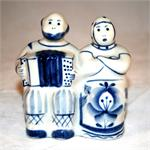 Couple with Harmonika Figurine