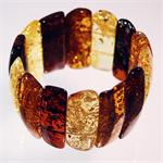 Multicolor Large Baltic Amber Stretch Bracelet from Lithuania
