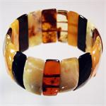 Multicolor Baltic Amber Stretch Bracelet from Lithuania