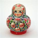 Girl with Red Flowers Matryoshka