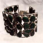 Emerald and 925 Sterling Silver Bracelet