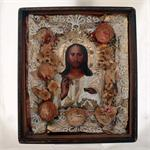 Christ the Pantocrator Antique Russian Icon
