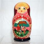 Swan and Geese Russian Matryoshka Nesting Doll 15 Nest