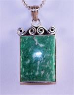 Amazonite and Sterling Silver Designer Pendant