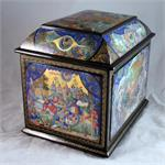 Molodkin The Golden Cockerel Russian Lacquer Box from Mstera Russia