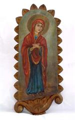 Antique Russian Icon: Mother of God