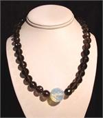 Opalized Crystal and Smokey Quartz Necklace
