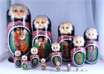 Vasilisa the Beautiful Russian Matryoshka Nesting Doll Front View