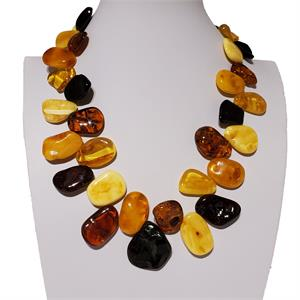 Large Free Shape Amber Necklace