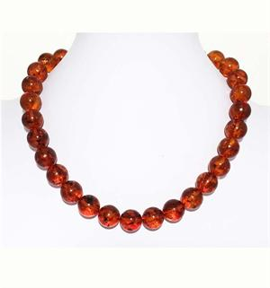 Cogniac  Color Baltic Amber Necklace