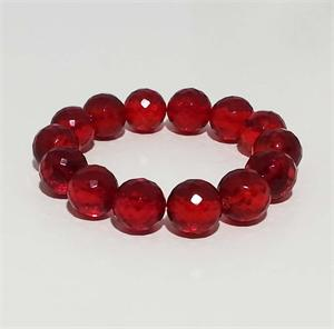 Beautiful  Faceted Red Baltic Amber Bracelet