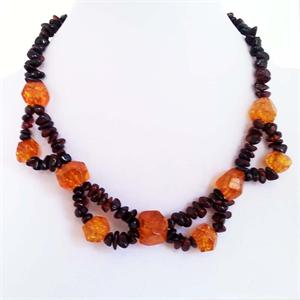 Baltic Cherry and Honey Amber Necklace