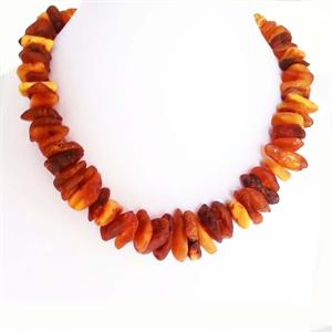 Rough  Baltic Amber Necklace