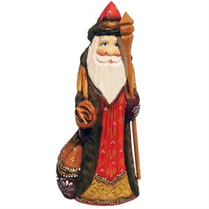 Russian Wooden Santa Hand Carved and Hand Painted