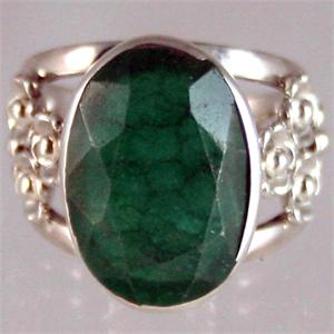 Green Quartz and Silver Ring