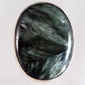 Russian Seraphinite and Silver Ring