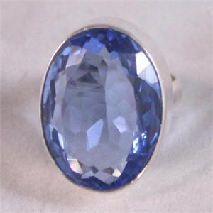 Blue Quartz and Silver Ring