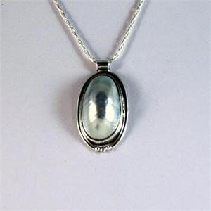 Mobe Pearl and Silver pendant 6