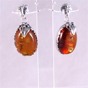 Red Amber Earrings 6
