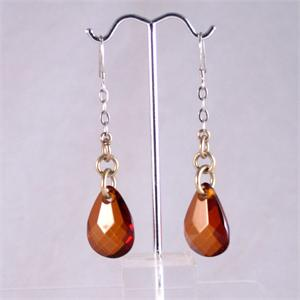 Faceted Honey Drop Earrings
