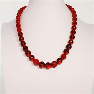 Red Baltic Amber Necklace