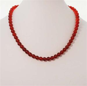 Red Baltic Amber Necklace 4