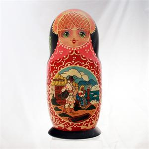 Russian Matryoshka Nesting Doll The Golden Fish by Romanov
