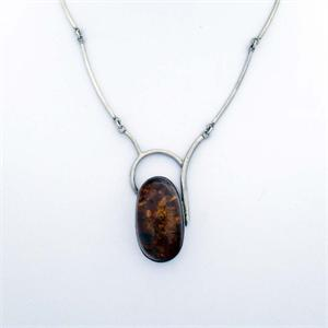 Amber and Silver Necklace 8