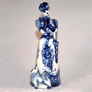 Lady with Dog Figurine 2