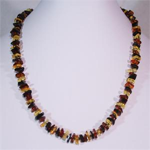 Baltic Amber Multicolored Necklace from Lithuania