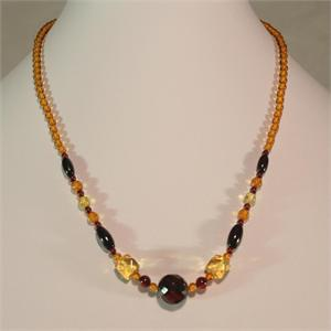Faceted Baltic Amber Necklace from Lithuania