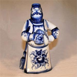 Man  with Beer handpainted ceramic figurine