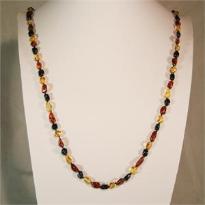 Large Multicolor Baltic Amber Necklace from Lithuania