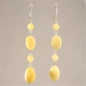 Butterscotch Baltic Amber Designer Drop Earrings from Lithuania