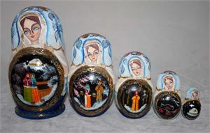 Russian Matryoshka Nesting Doll A Cold Russian Winter