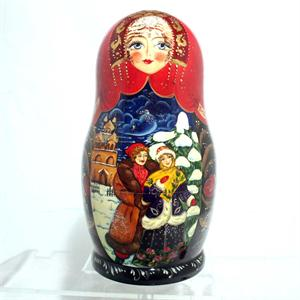 Russian Winter Matryoshka Nesting Doll by Kovalyova form Sergiev Posad