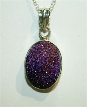 Drusy Quartz Pendant and Sterling Silver