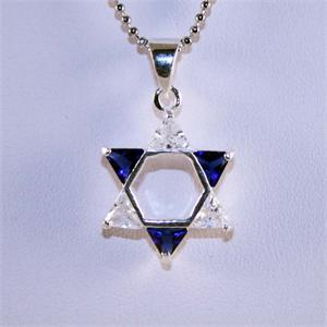 Star of David with CZ's and Sterling Silver 925