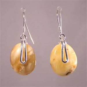Baltic Amber Butterscotch Earrings with 925 Sterling Silver