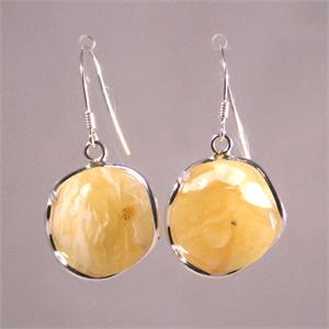 Butterscotch Amber and 925 Sterling Silver Earrings