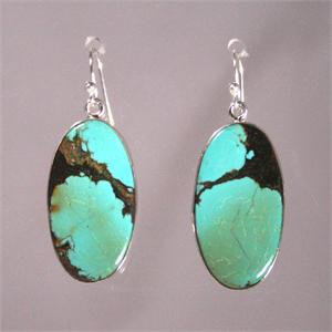 Turquoise and 925 Sterling Silver Designer Earrings