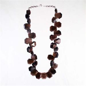 Smoky Quartz and Sterling Silver Designer Necklace