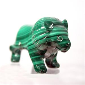 Russian Hand Carved Malachite Lion