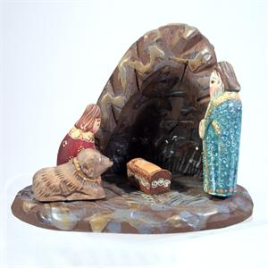 Russian Hand Carved Nativity Set Made by Erina from Russia