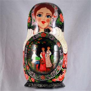 Russian Matryoshka Nesting Doll -  Day in the Park by Osipov